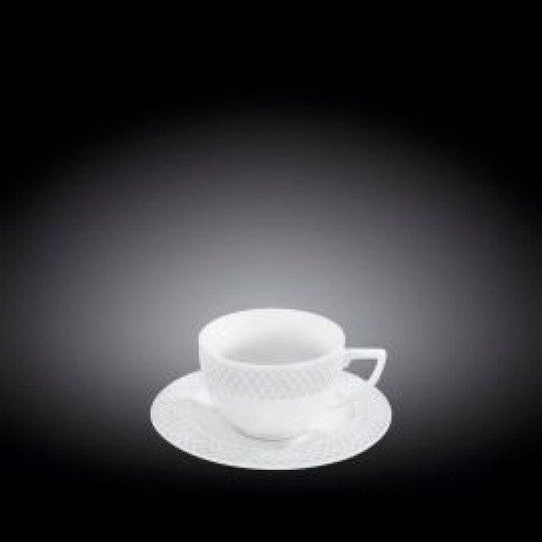 Набор: чайная чашка & блюдце 240 мл 6 пар в цветной упаковке(WL-880105-JV/6C)
