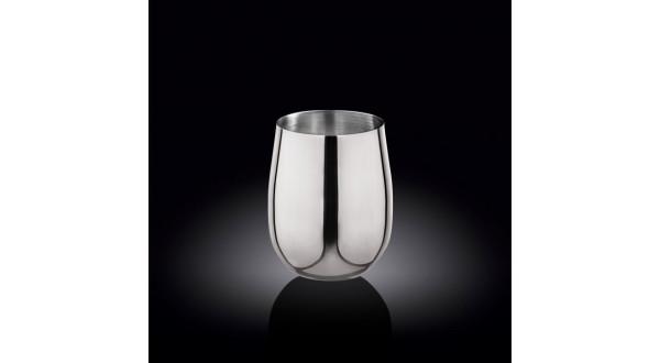 Стакан серебро 550мл нержавеющая сталь(WL-552222/А)
