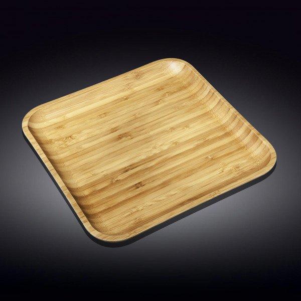 Бамбуковое блюдо квадратное Wilmax 40,5 см х 40,5 см(WL-771177/A)