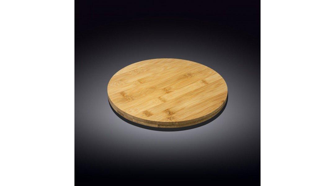 Бамбуковая подставка для пиццы 17.5см х 3см круглая(WL-771074...