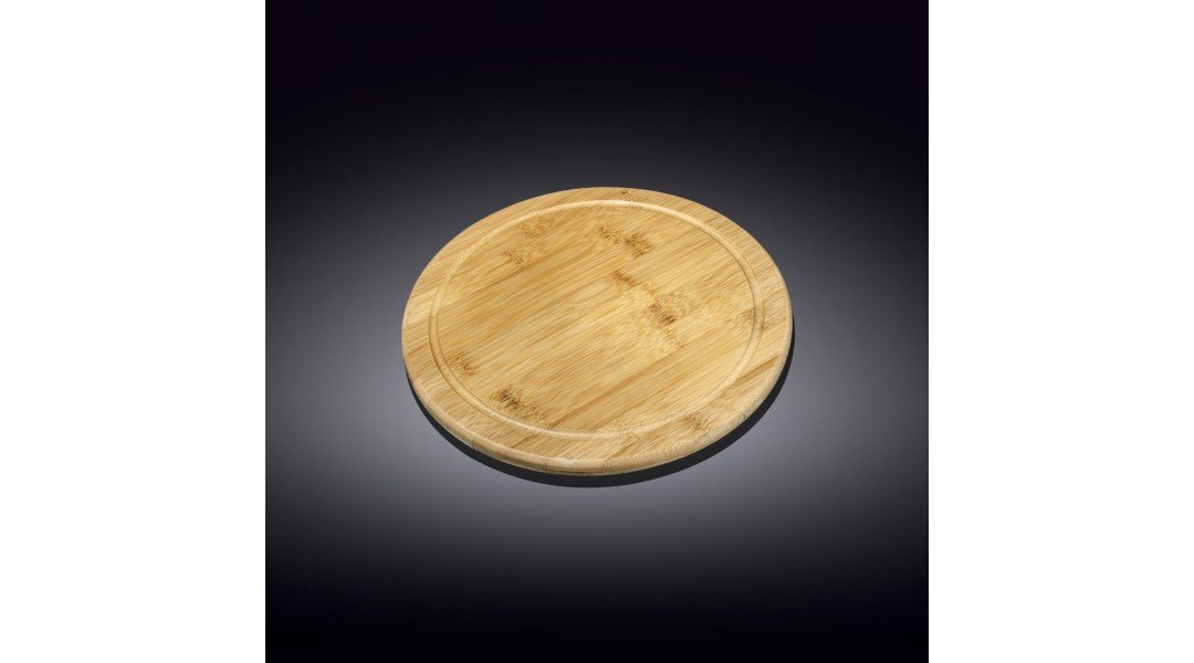 Бамбуковая сервировочная круглая доска 10см(WL-771082/A)