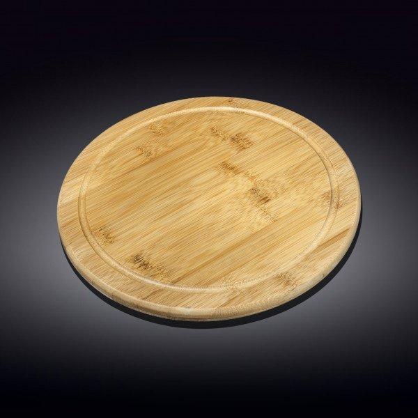 Бамбуковая сервировочная круглая доска 28см(WL-771089/A)