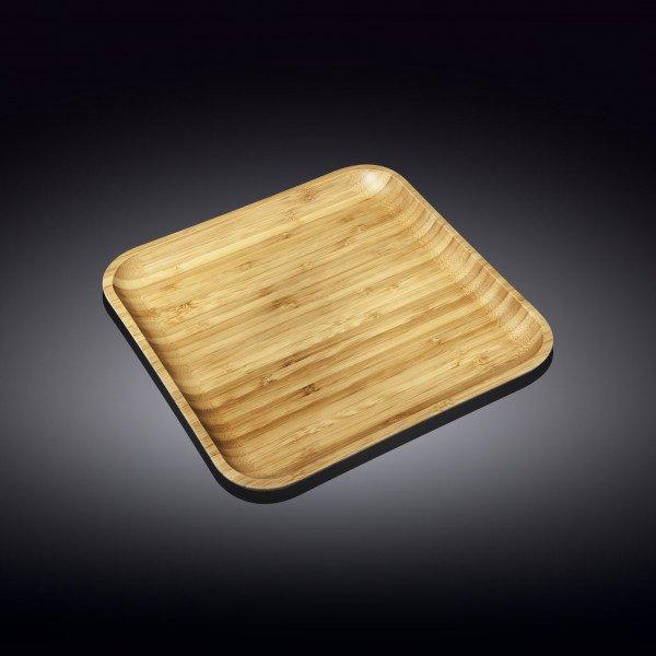Бамбуковое блюдо квадратное Wilmax 25.5см X 25.5 м(WL-771023/A)