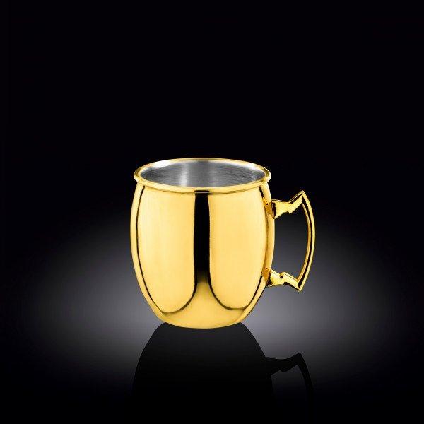 Кружка золото 550мл нержавеющая сталь(WL-552202/A)