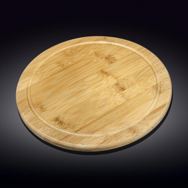 Бамбуковая сервировочная круглая доска 45.5см(WL-771193/A)