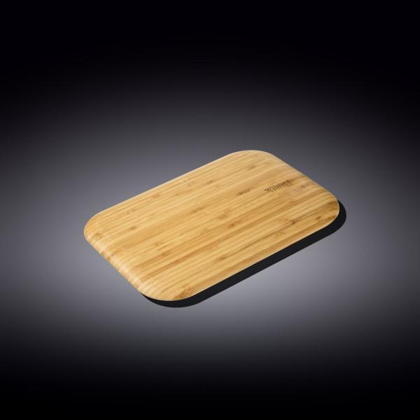 Бамбуковая сервировочная прямоугольная доска 23см x 12.5см(WL‑771170/A)
