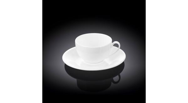 Набор: кофейная чашка + блюдце 80мл(WL-993187/AB)