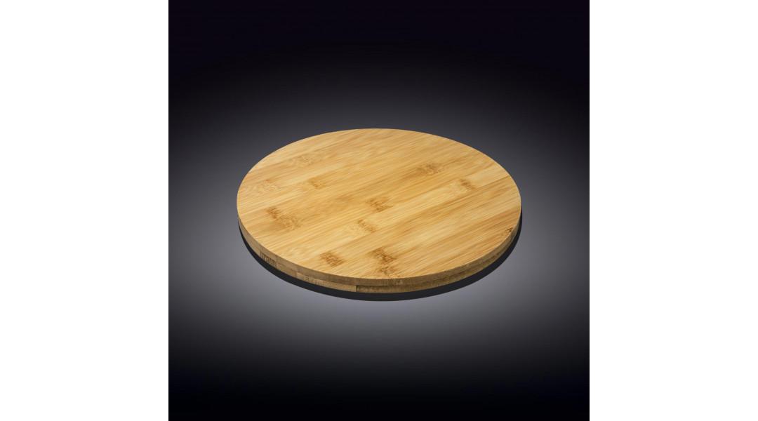 Бамбуковая подставка для пиццы 20.5см х 3.5см круглая(WL-7710...